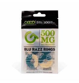 Good CBD Blue Razz Gummy Rings 500 mg