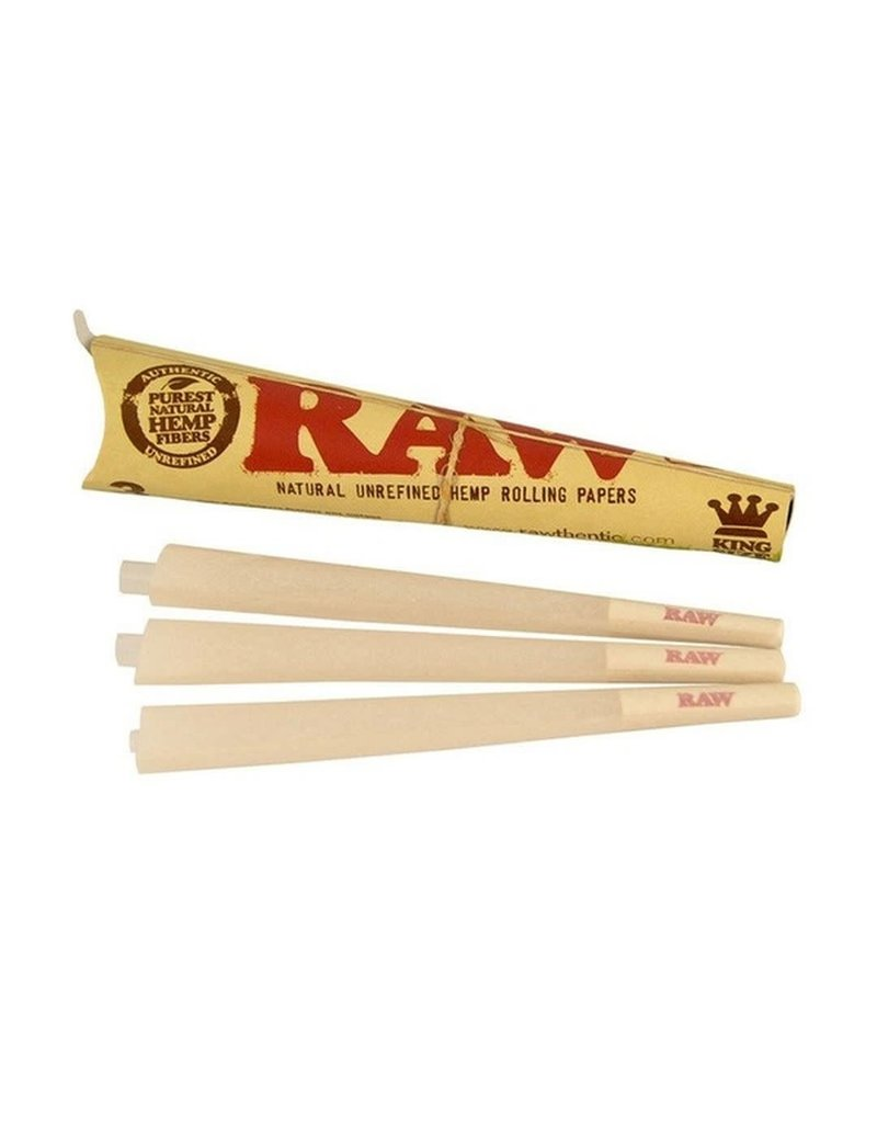 Raw Cone Unrefined Rolling Papers King Size