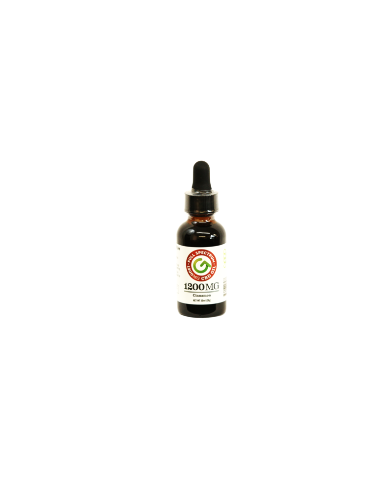 Good CBD Full Spectrum CBD Oil 1200 MG Tincture Cinnamon