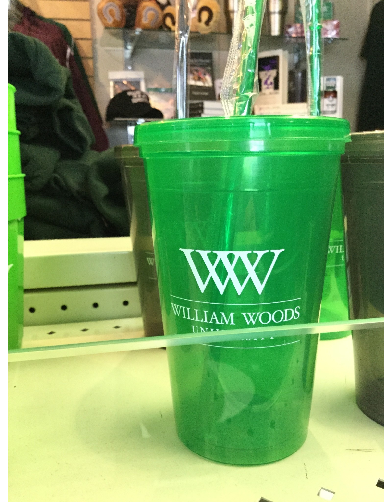 Plastic Cup w/Lid/Straw - 2 colors
