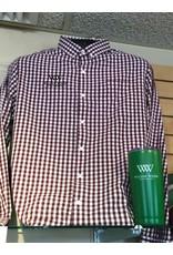 Men's Wilson Gingham Long Sleeve Button Up