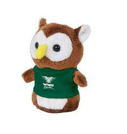 "4"" Shorties Plush Owl w/T-Shirt"
