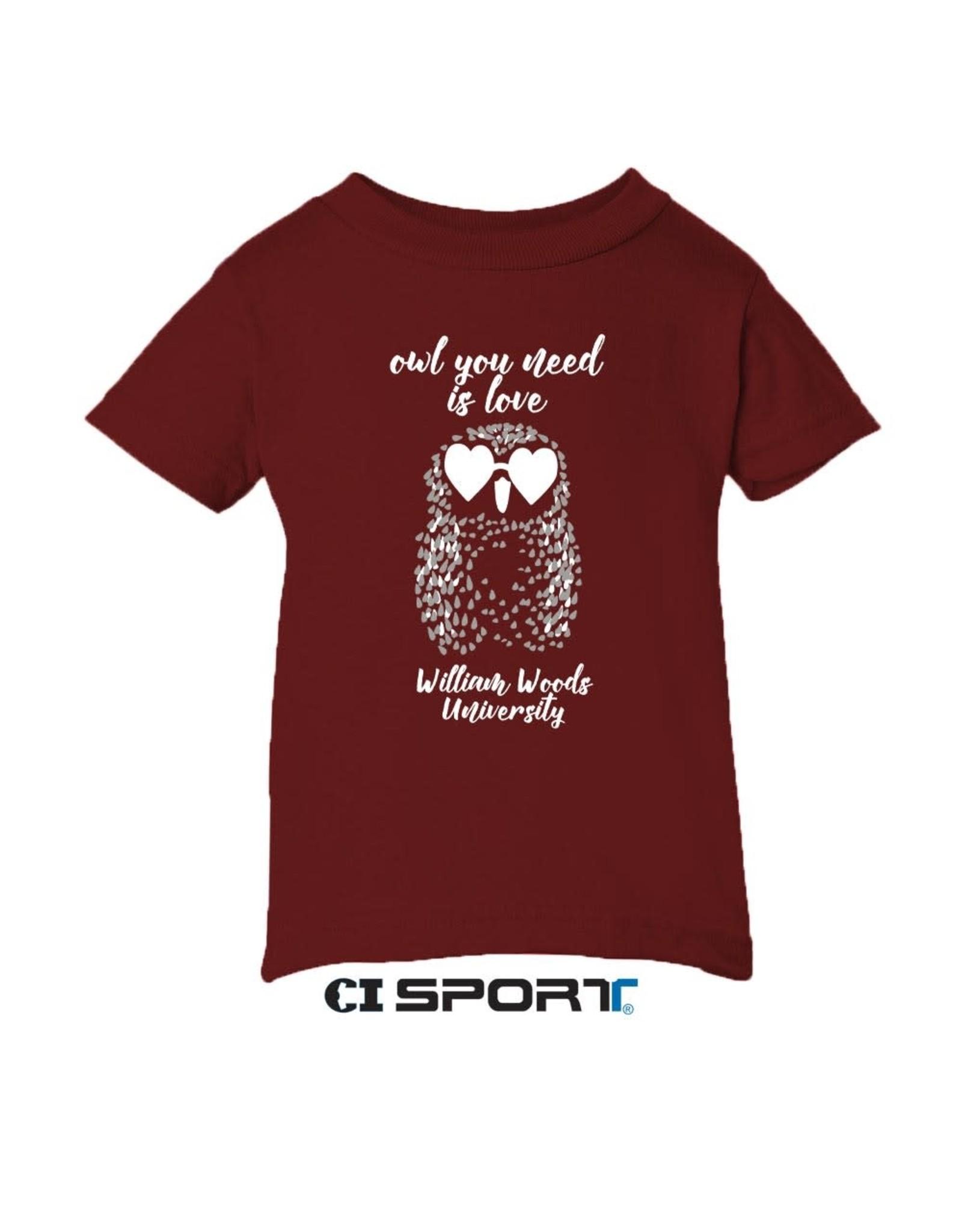 Infant Tee Owl You Need Is Love
