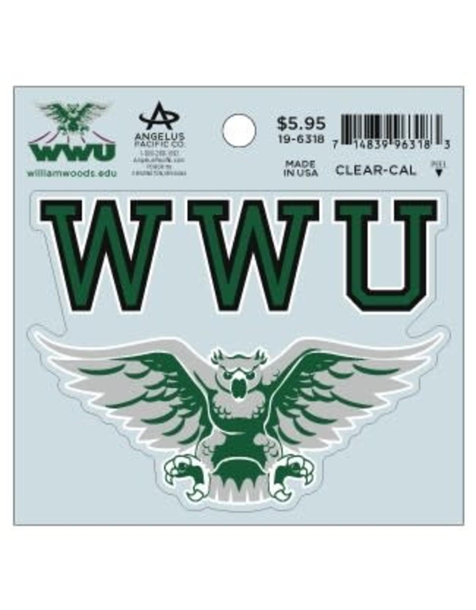Decal WWU Mascot 4.25x4.25