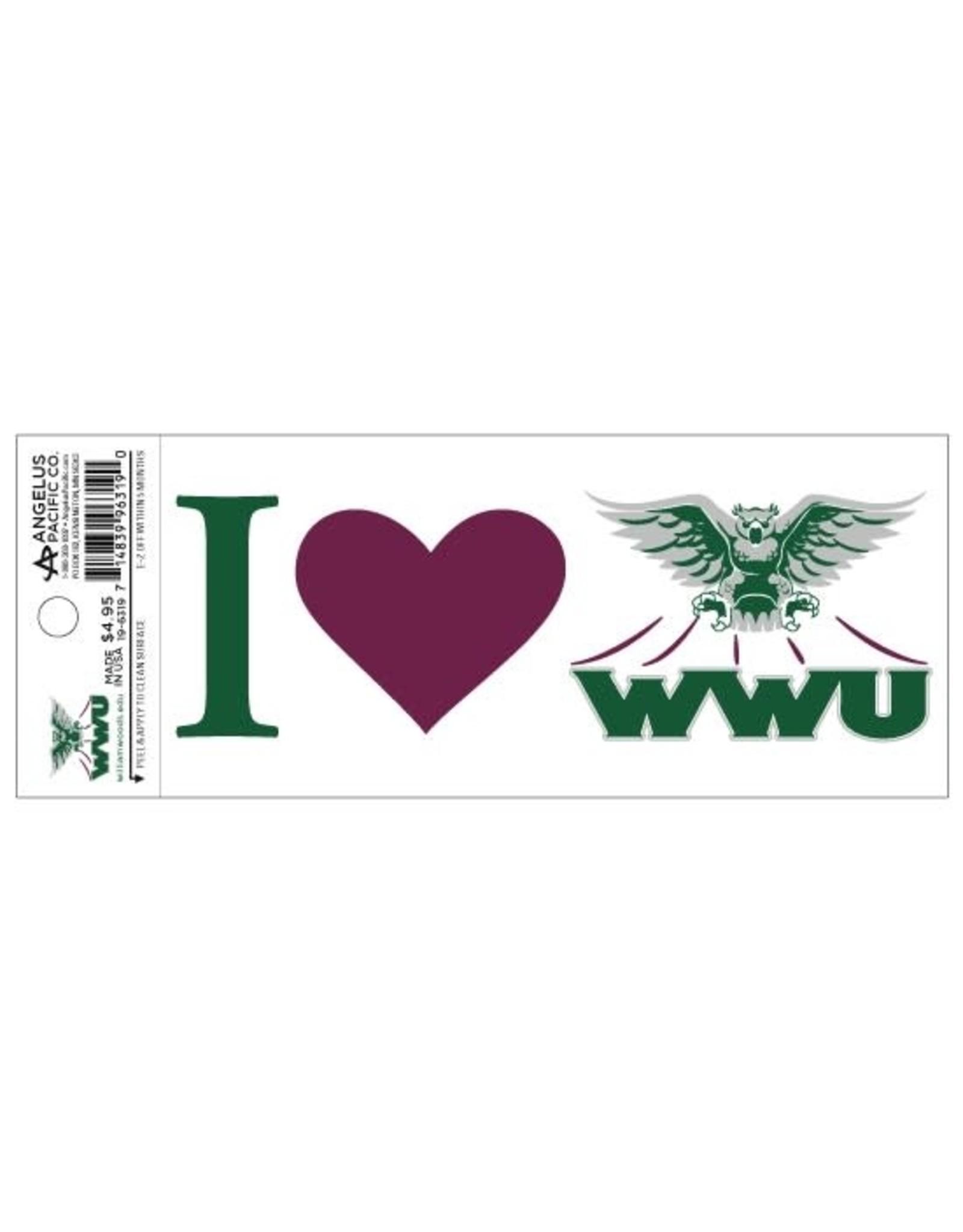Decal I (Heart) WWU