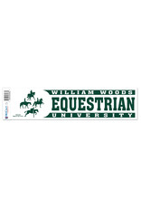 Decal Equestrian White 4 Horse and Rider