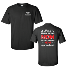 Equestrian Horse Riding Mom Black Tee