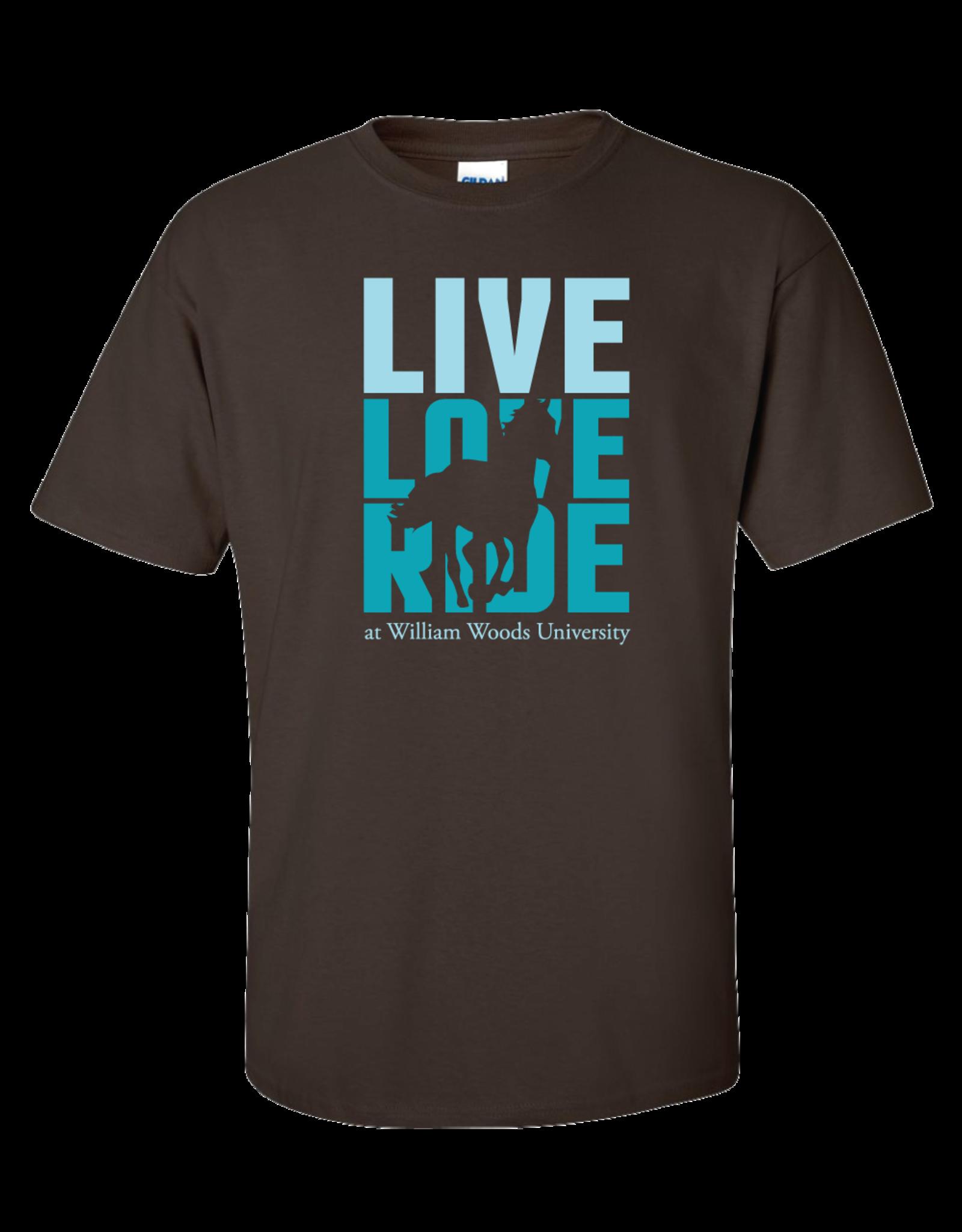 Equestrian Live Love Ride Brown Tee