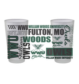Pint Glass 16oz.  WWU LOGO