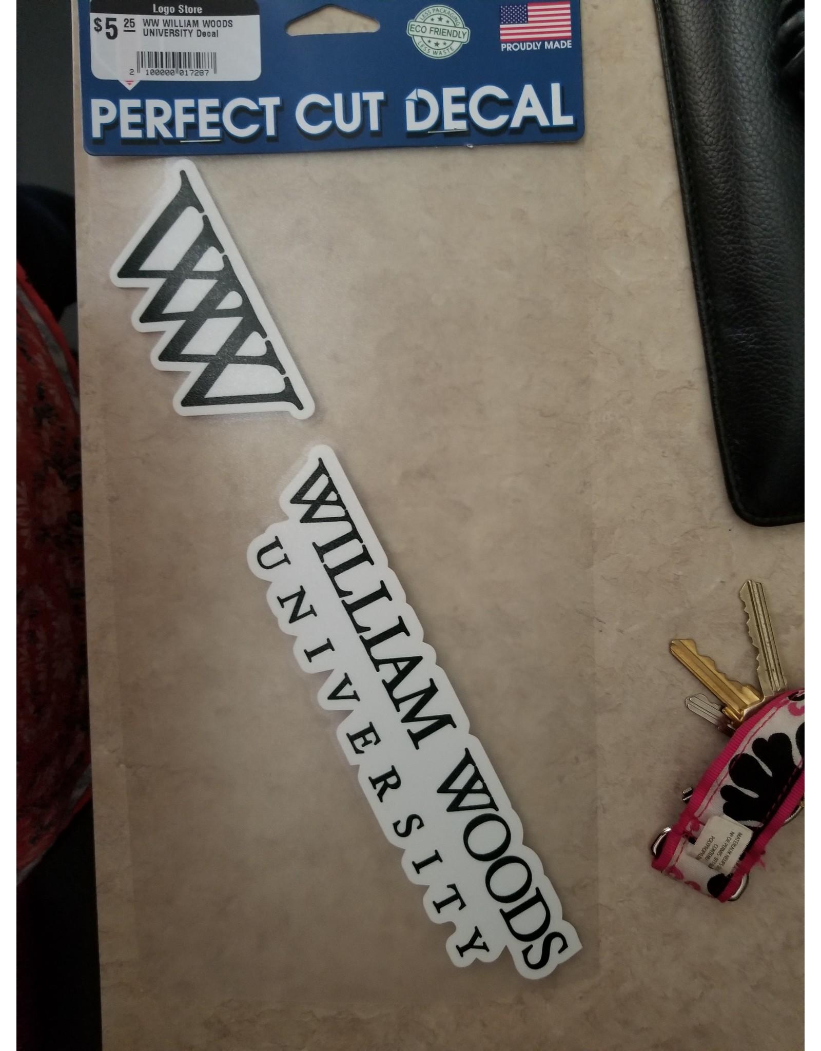WW William Woods University Decal