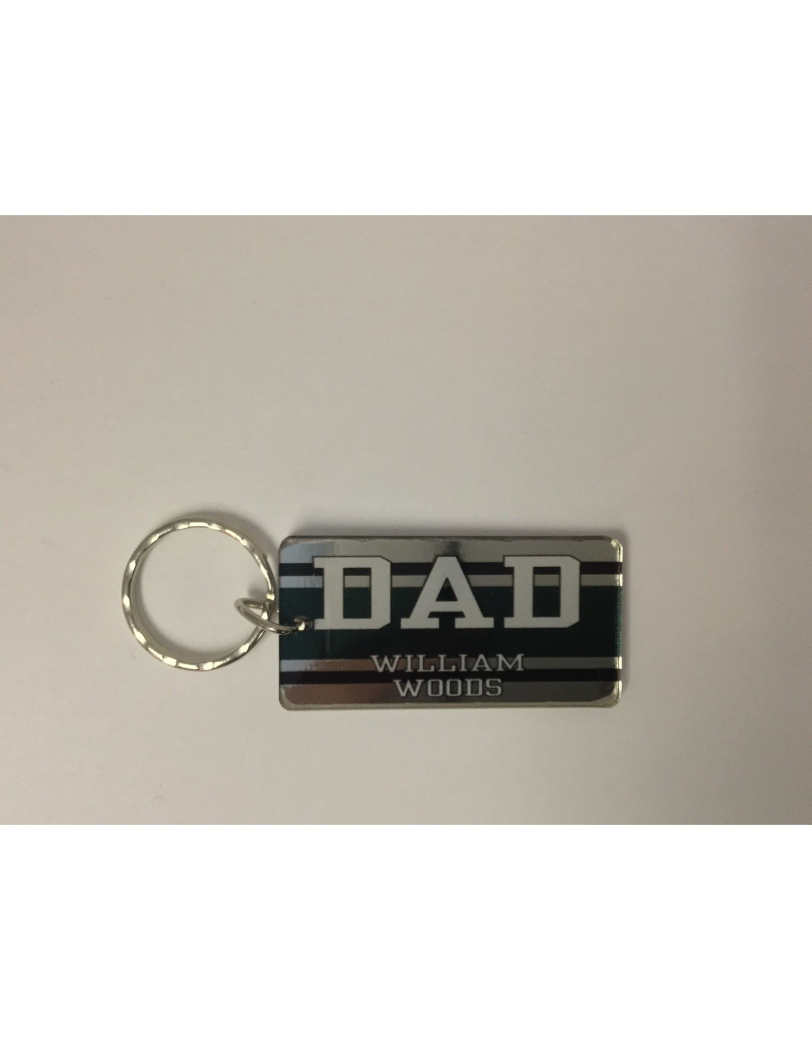 2018 Dad Keychain, Acrylic Metallic Stripe