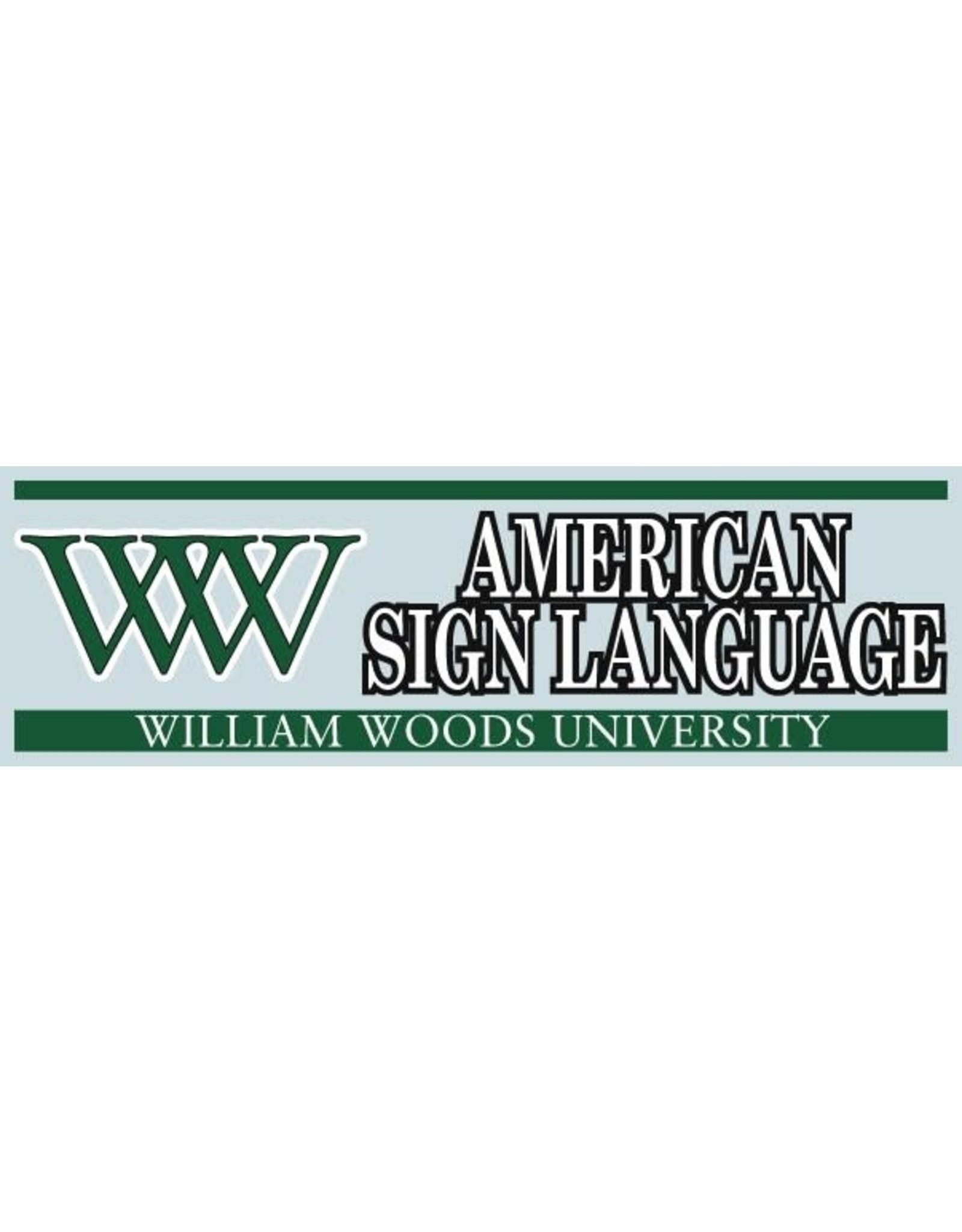 Decal WW AMERICAN SIGN LANGUAGE