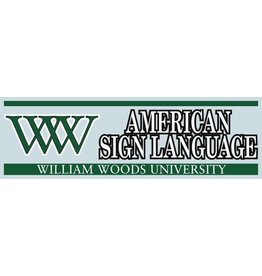 Decal WW AMERICAN SIGN LANGUAGE