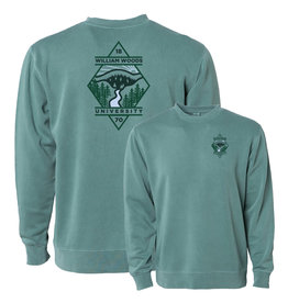 Pigment Dyed Fleece Crew Alpine Green