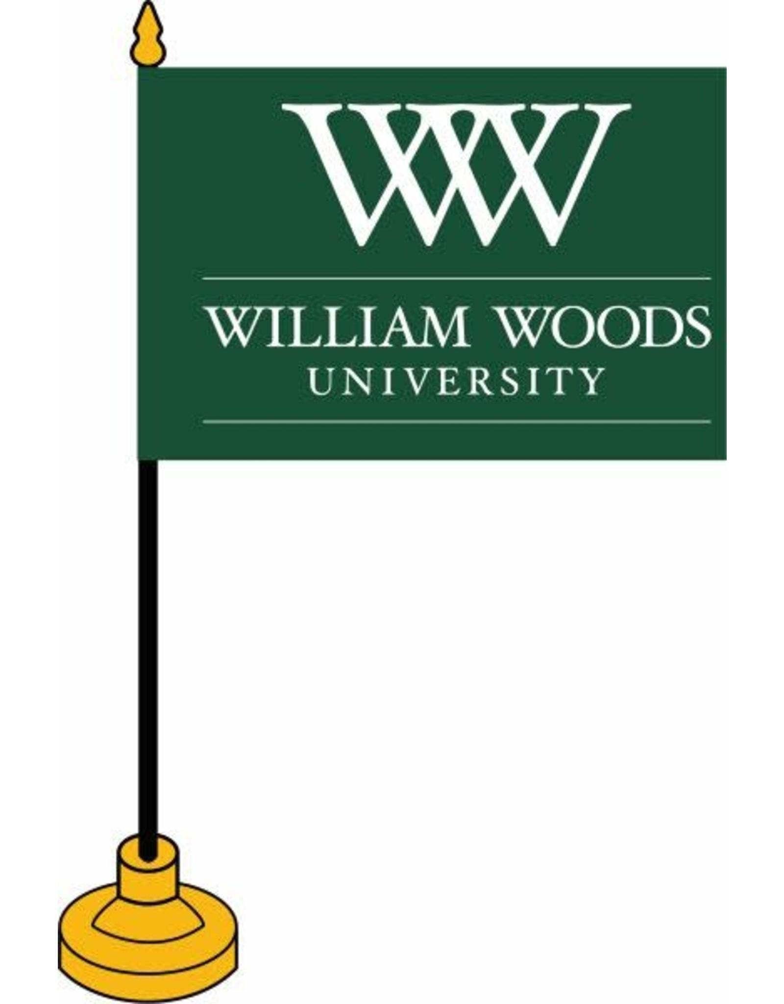"""Desk Flag 4""""x6"""" Green WW Logo"""