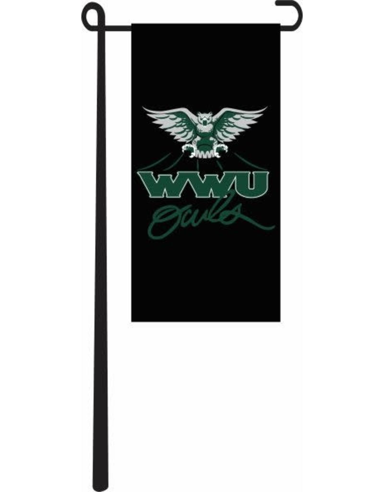 """Flag 4""""x8"""" Black w/OWLS Logo"""