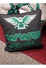 """Pillow 15""""x15"""" Black w/OWLS Logo"""