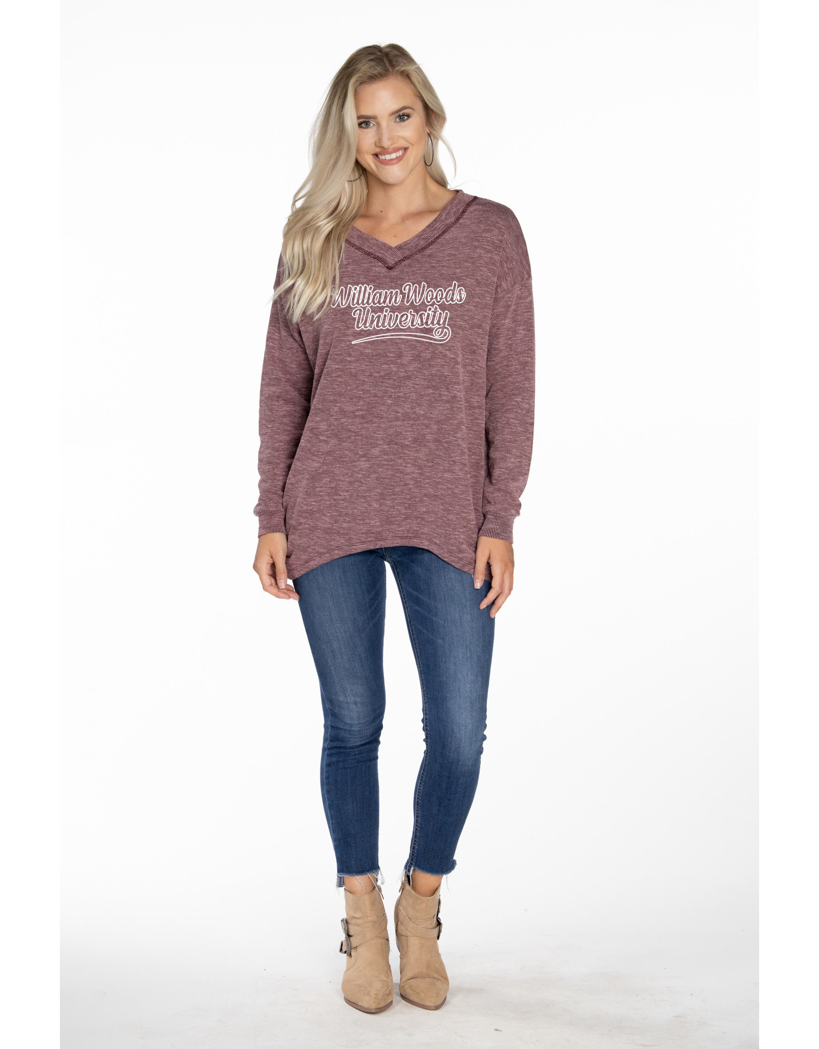 Bailey II V-Neck Long Sleeve Pullover