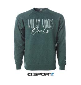 CI Sport William Woods Owls -Skinny crew Moss heather