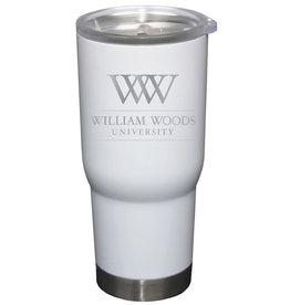 22 oz. white stainless steel tumbler