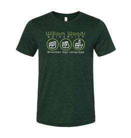 Bella Canvas WWU ASL shirt-Htr. Emerald