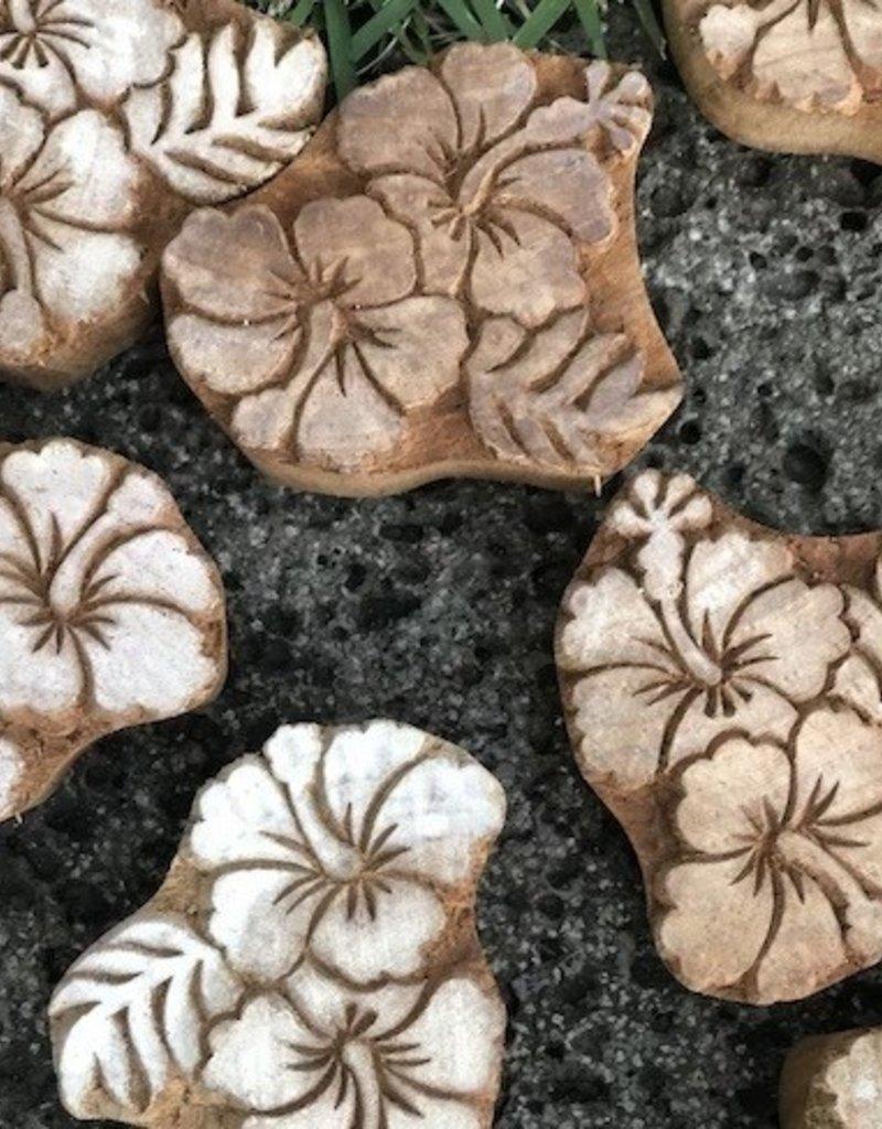 hibiscus wood block