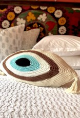 evil eye toss pillow w/filling