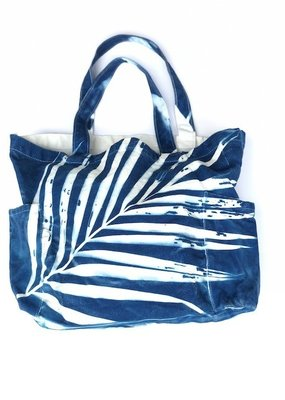 Treehouse Daydreams sunprint palm tote