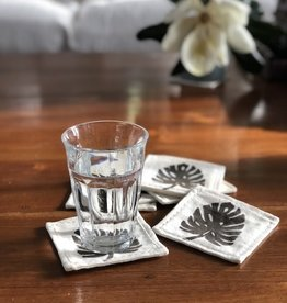 monstera coaster set