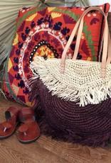 raffia shoulder bag