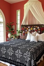black applique bedspread