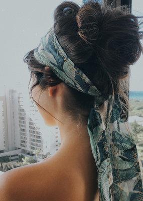 DIY kantha hair scarf