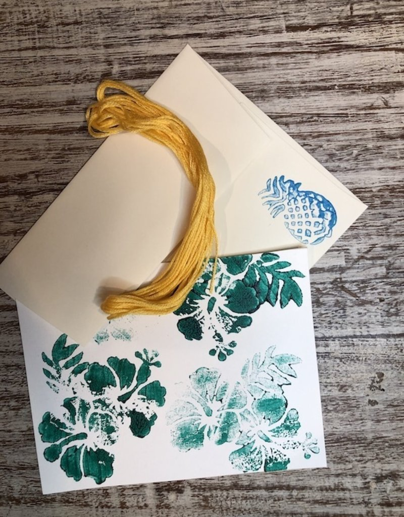 DIY kantha postcards kit