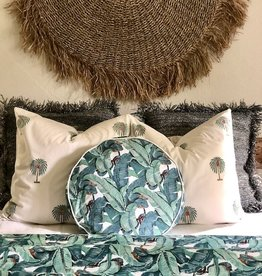 banana leaf round pillow sham 18""