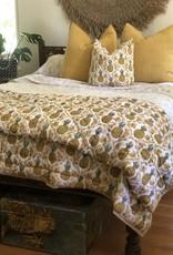pineapple block print comforter