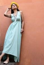 sunset maxi dress solid
