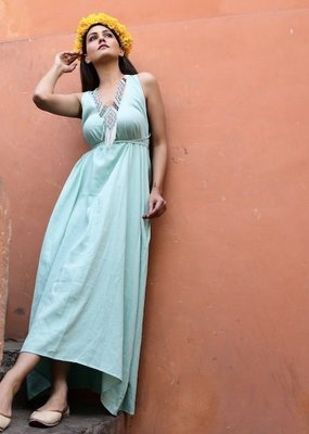 sunset maxi dress solid