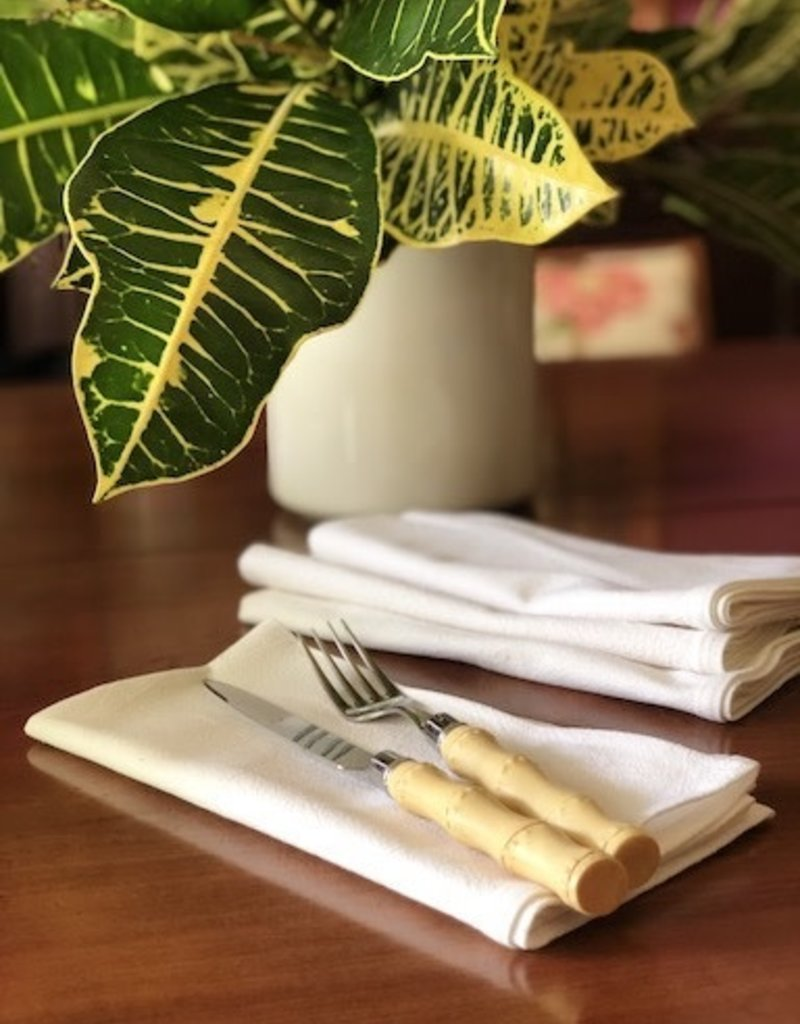 white napkin set of 4