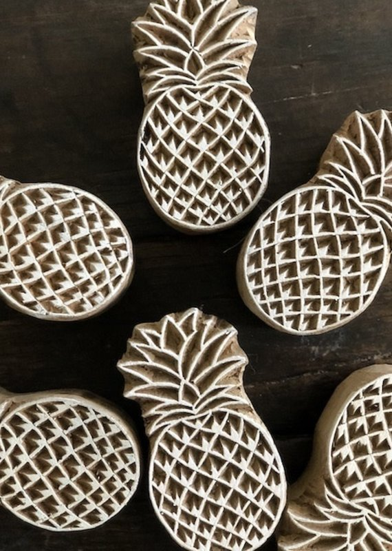 pineapple wood block