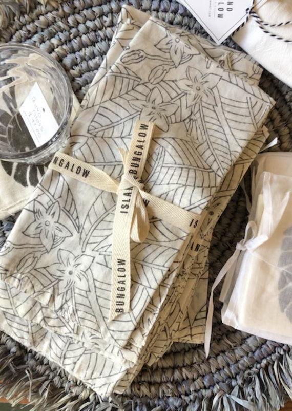 napkin set of 2 plumeria
