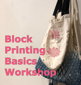 block printing basics private workshop