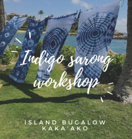 indigo sarong  private workshop