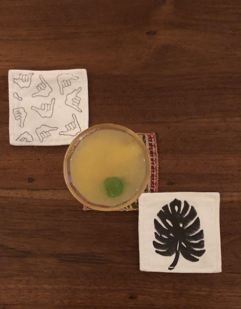 monstera coaster set