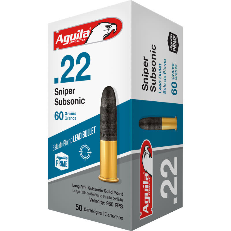 Aguila .22 Sniper Subsonic 60gr