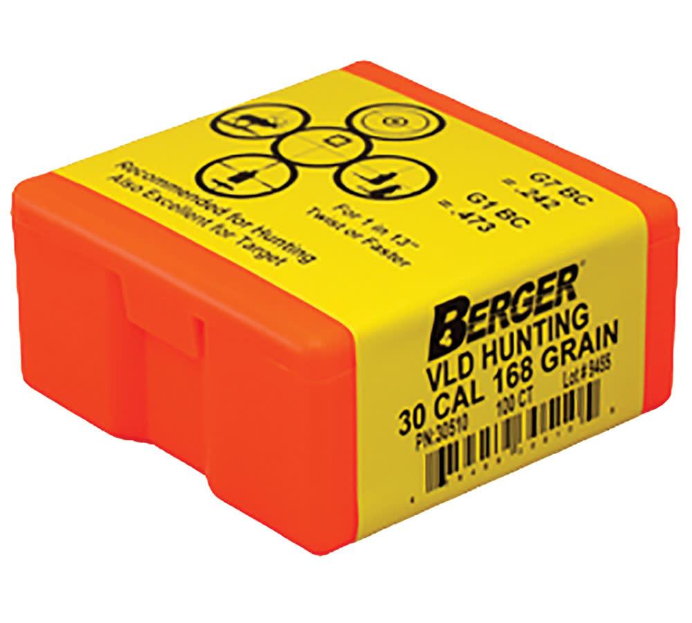 Berger 30 cal 168gr Bullets VLD Hunting 100pk