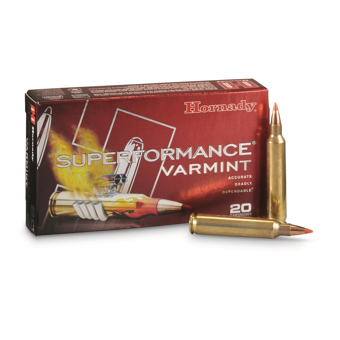 Hornady Superformance Varmint 222 Rem. 50 gr V-MAX (20 Pk)