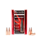 Hornady Interlock 6.5mm .264 Diameter 160 gr RN Bullets #2640 (100Pk)