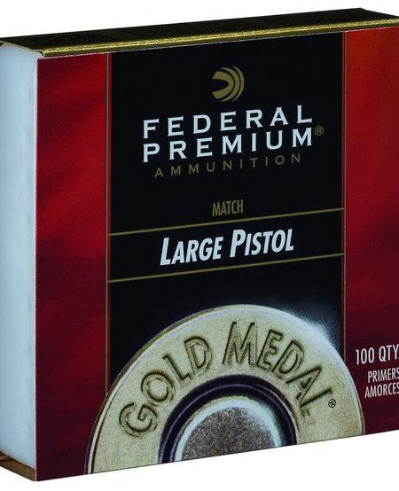 Premium Gold Medal Large Pistol Primers #GM150M (100 Pk)