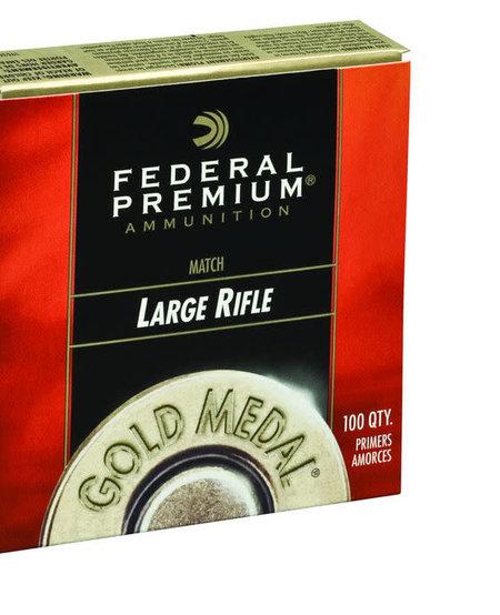 Premium Gold Medal Large Rifle Primers #GM210M (100 Pk)