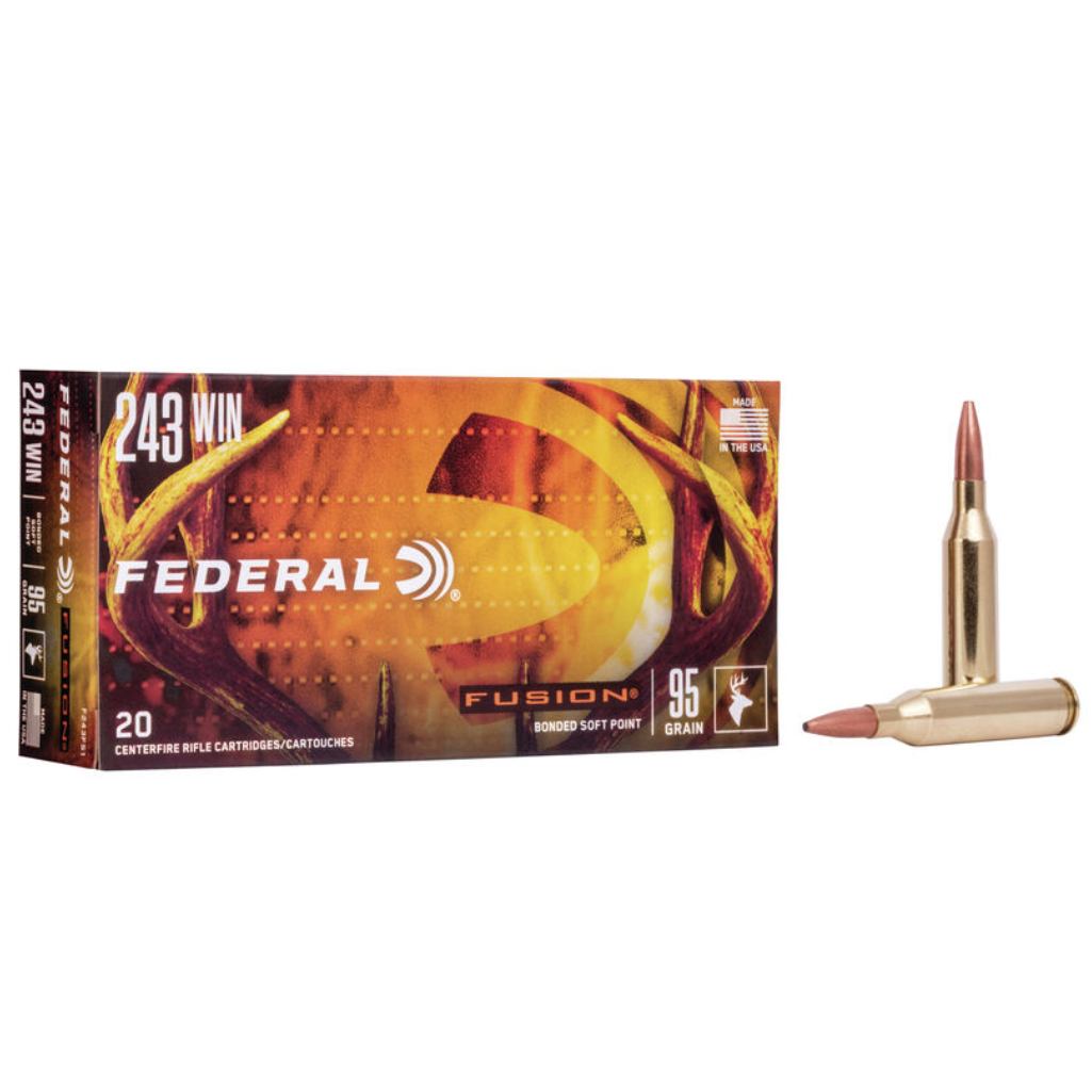 Federal Fusion Rifle Ammo .243 Win 95 Gr
